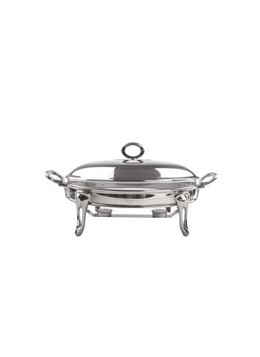 Sembol Gümüş Oval Isıtmalı Fırın/Servis Kabı 35Cm Renkli